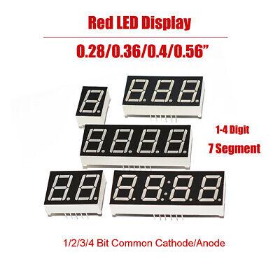 Common Cathode 7 Segment Led Display - 0.28/0.36/0.4/0.56 Led Display 7 Segment Digit 1-4 Bit Common Cathode/Anode