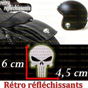 sticker autocollant r tro r fl chissant punisher skull hd casque moto hd ebay. Black Bedroom Furniture Sets. Home Design Ideas