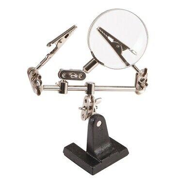 Hands Free Soldering Stand Solder Magnifier Glass Magnifying Holder Holding Jig