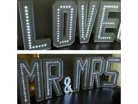 Venue Decoration/styling- love sofa Hire-Led Dance floor ON-DAY CO-ORDINATION Chair Cover Hire