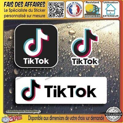lot 3 Stickers autocollant Tik Tok tiktokeur decal reseaux sociaux