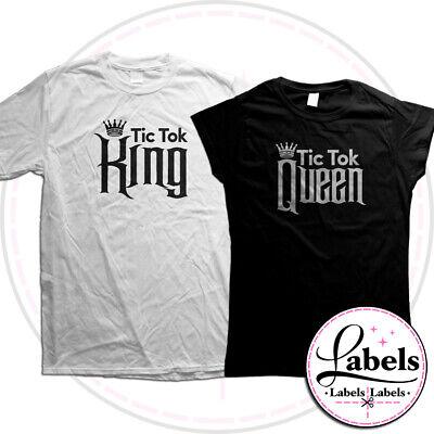 TIK TOK FAMOUS KING or QUEEN T-SHIRT OK BOOMER KAREN VSCO GIRL LADIES MENS KIDS