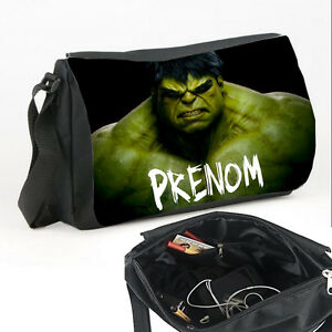 sac bandouli re hulk personnalis avec pr nom v1 ebay. Black Bedroom Furniture Sets. Home Design Ideas