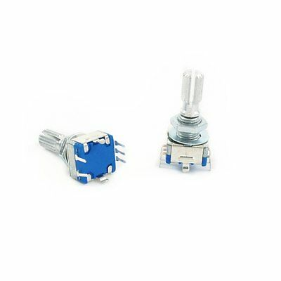 10x  Rotary Encoder With Switch Ec11 Audio Digital Potentiometer 20mm Shaft New
