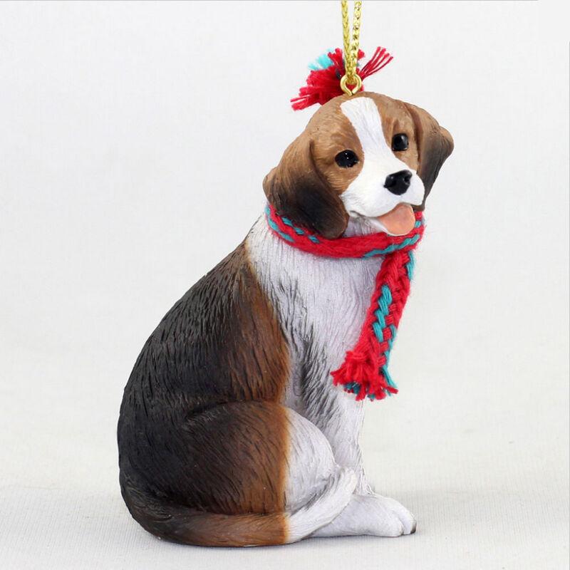 Beagle Christmas Scarf Ornament