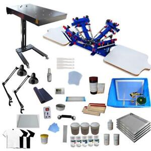 4 Color 2 Station Screen Printing Kit include Flash Dryer & Simple Exposure Unit 006936 Item number 006936