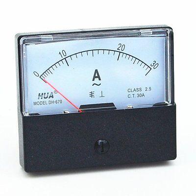 Ac 0-30a Analog Panel Meter Ammeter Gauge Dh-670