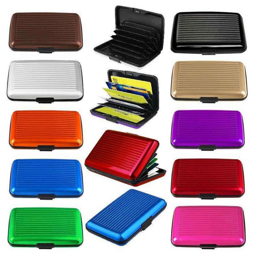 RFID Scan Protected Aluminium Security Wallet Bank Credit Card Holder Hard Case