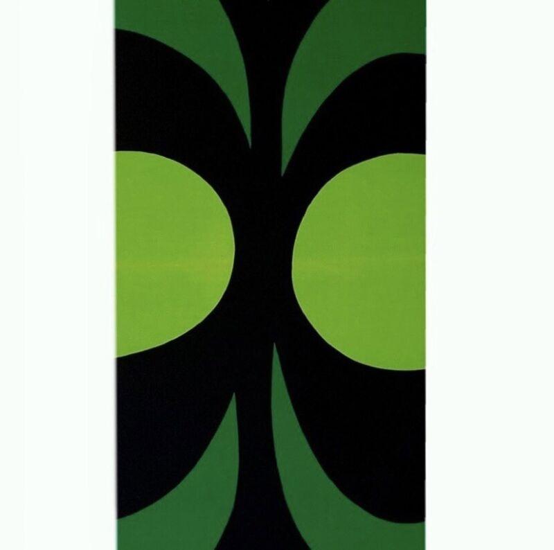"Marrimekko VTG Wall Art 60s Fabric Stretched Canvas Kaivo 50""X 28"" 1965 Rare"