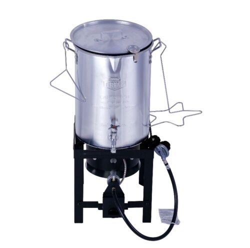 30 Quart Propane Gas Turkey Fryer Spigot Fry Boil Steam Brew