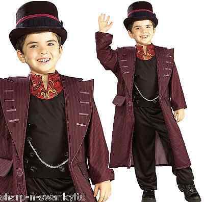 Jungen Willy Wonka Charlie & Schokoladen Fabrik Büchertag Kostüm Kleid Outfit ()