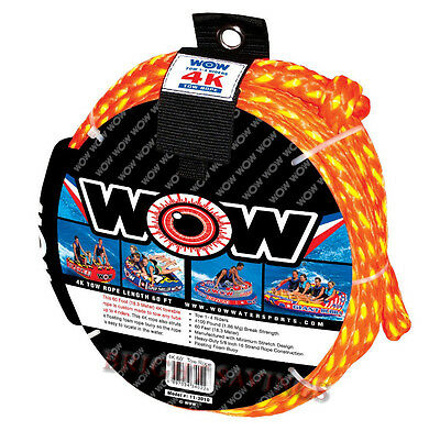 "new WOW 4K Tow Rope Towable Tube 60' Long Floating 5/8"" Heavy Duty Water Ski"