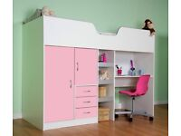 Cabin bed pink