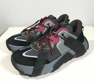 Brand-new Men's Valentino Garavani Black Wod Panelled Leather Sneakers in US 12