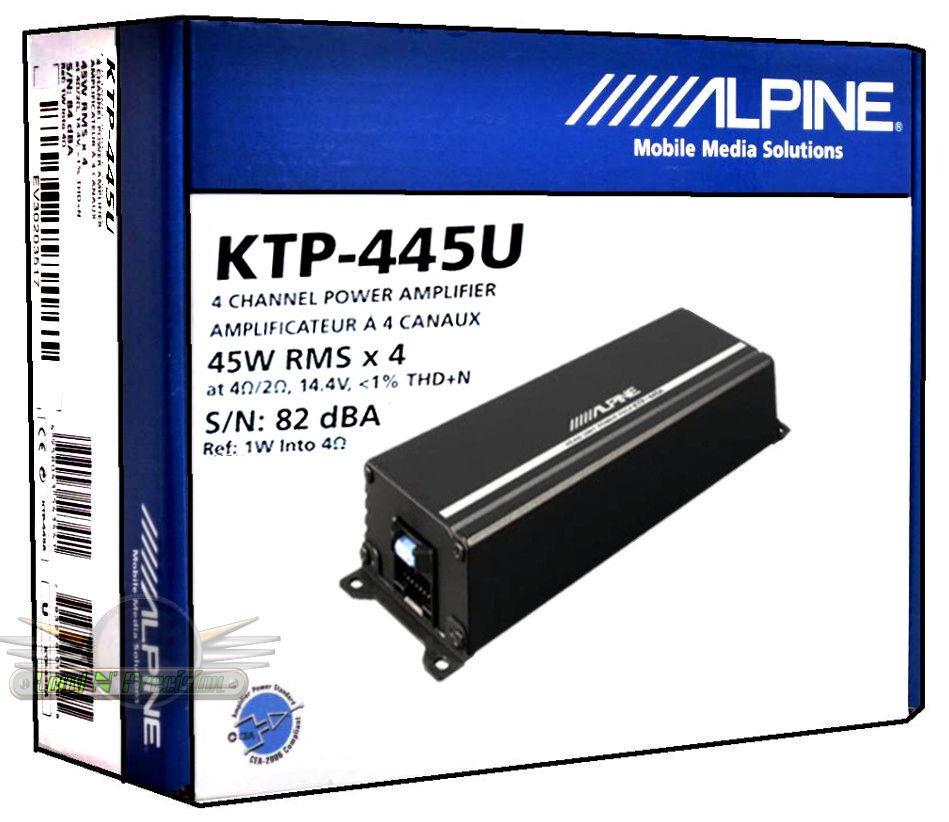 Alpine - Power Pack 180w Class D Bridgeable Multichannel Amp