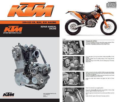 KTM 250 400 450 520 525 SX MXC EXC RACING SERVICE MANUAL 2000 2001 2002 2003