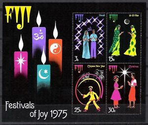 1975-Figi-Miniature-Sheet-Festival-of-Joy-Festival-foglietto-Nuovo-Illin-New-MNH