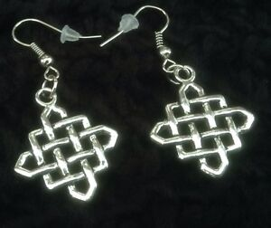 Celtic knot,infinity earrings,hook,dangle,silver,tribal,casual,fashion,womens