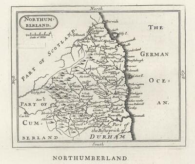 c1780 Original Antique Map NORTHUMBERLAND by John Seller / Francis Grose (GR)