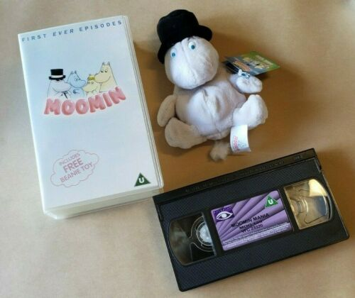 Moomin Stuffed Plush with VHS Ships free within the US