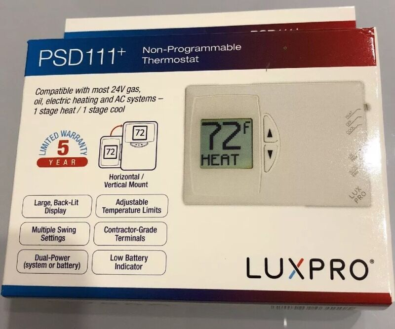 Thermostat  ac LUXPRO PSD 111