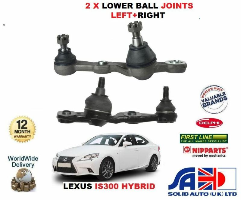 FOR LEXUS IS300 HYBRID 2013-> NEW RIGHT+LEFT HAND SIDE LOWER BOTTOM BALL JOINTS