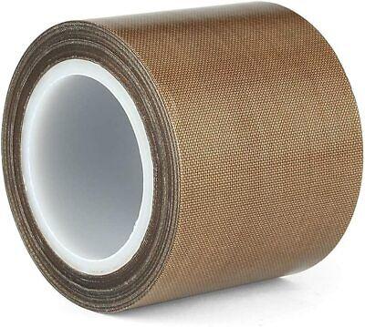 2 X 33ft Teflon Tape Ptfe 180um Thicker 70-260c Adhesive High-temp Fiberglass