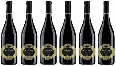 6x NERONE PRIMITIVO NEGROAMARO PUGLIA 0,75l - Wein - Rotwein - Italien -
