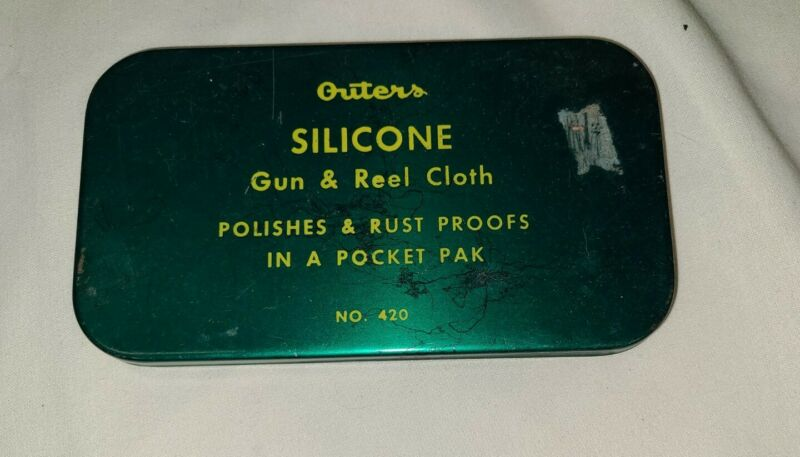 Outers Silicone Gun & Reel Cloth No.420 in Original Tin Box