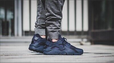 Men's NIKE AIR HUARACHE triple blue midnight navy size UK 9 US 10 EU 44 sneakers for sale  Shipping to Nigeria