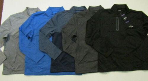 CALLAWAY Mens 1/4 Zip Pullover Black Blue Gray Charcoal Navy L/S M L XL 2XL NWT