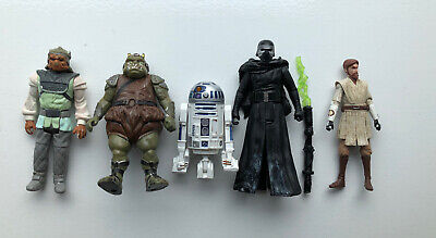 Collection Of 5 Star Wars Figures (2 Vintage) & Weapon