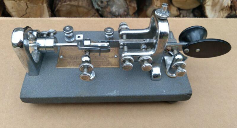 Vibroplex Morse Code CW Ham Radio Key Original Standard Bug SN 183640(1953)