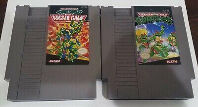 Nintendo NES Authentic Lot Teenage Mutant Ninja Turtles The Arcade Game 1 2 TMNT