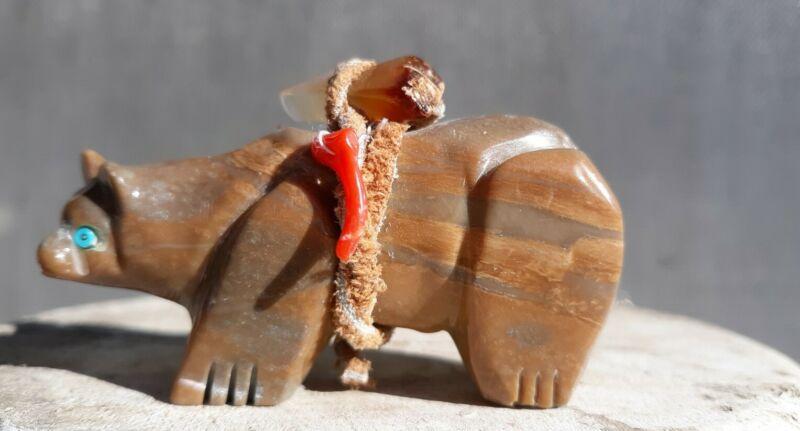 Zuni Bear Fetish Jasper??? Hand Carved