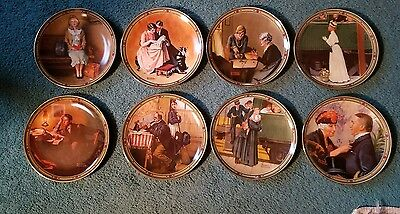 Complete Set of 8 Collector Plates from Norman Rockwell's American Dreams Series