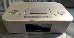 Philips DC290B/37 30-Pin iPod/iPhone Alarm Clock Music Aluminum Speaker Dock