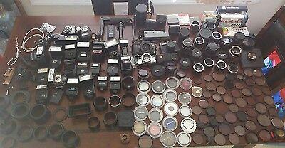 Large Pre-Owned Grab Bag Lot Of Camera Accessories---binHC