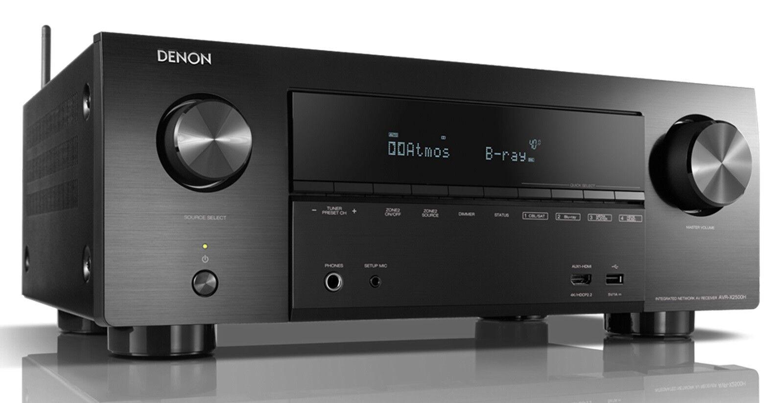 DENON AVR-X2500H NEU Schwarz 7.2  4K AV-Receiver Alexa-Sprachsteuerung AVRX2500