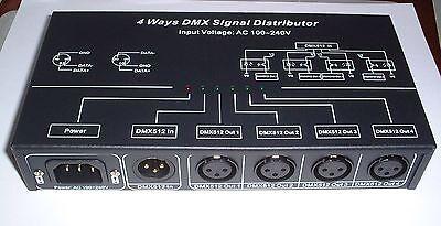 4 way optical isolated DMX splitter amplifier  UK stock