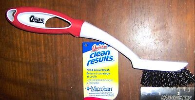 Tile Grout Cleaning Scrubbing Brush W Stiff Microban Bristles Quickie 155mb