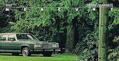 Mercury Grand Marquis Station Wagon (1987 Mercury GRAND MARQUIS Brochure / Catalog:LS Sedan,Colony Park Station Wagon )