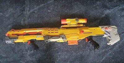Longshot Nerf Gun CS6 N Strike Sniper Rifle Gun Yellow Version Hasbro with Scope