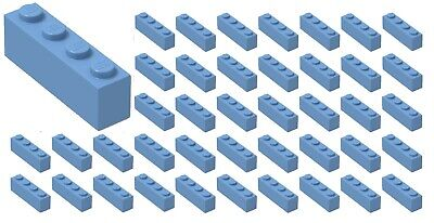 ☀LEGO 50x New Medium Blue Bricks 1 x 4 Dot Bricks Building Blocks Pieces