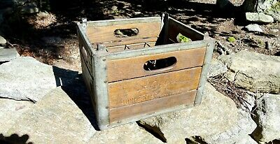 Vintage 1962 Sealtest 12 Milk Bottle Wood Wooden Crate Rochester NY Dairy Farm