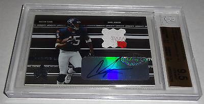 ANDRE JOHNSON 2003 Leaf Rookies and Star LONGEVITY Rc Autograph BGS 9.5 GEM MINT
