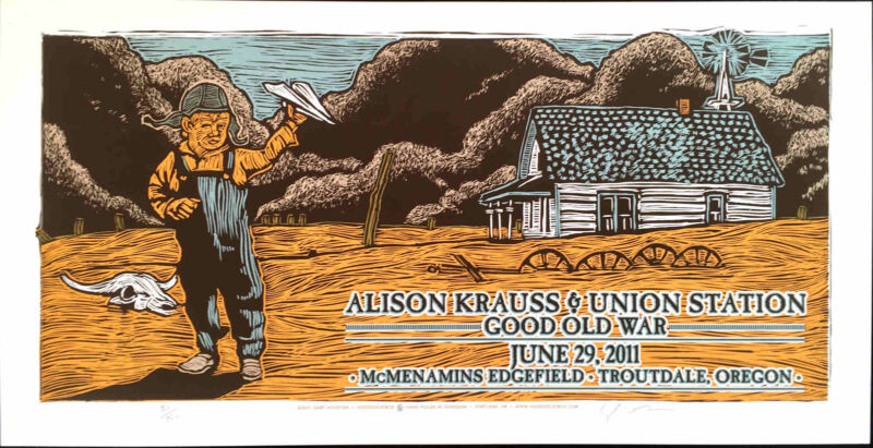 Alison Krauss & Union Station Original Silkscreen Concert Poster Gary Houston