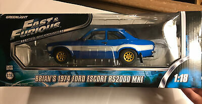 GREENLIGHT FAST AND THE FURIOUS BRIAN'S 1974 FORD ESCORT RS2000 MK 1:18