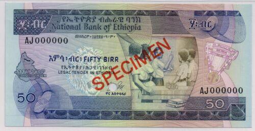 National Bank of Ethiopia. 50 Birr.  P-33 Specimen.  Gem Uncirculated.