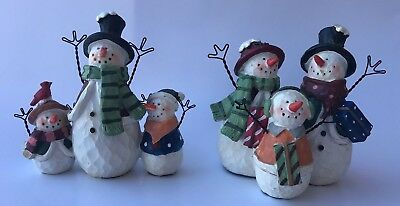 Winter Christmas Holiday Snowman Family 4